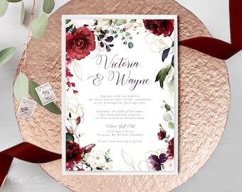 Wedding Invitations - A Beautiful December (Style 13858)