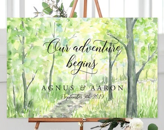 Our Adventure Begins/Design & Printing or Printable File - Watercolour Landscape (13938-2)