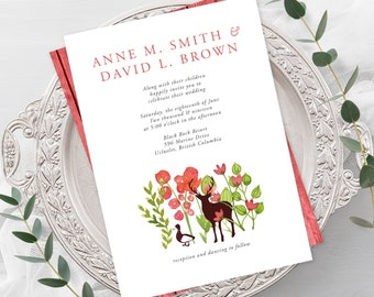 Wedding Invitations - Red Woods (Style 13504)