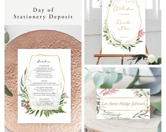 Botanical Garden (Style 13910) - Day of Stationery Deposit Add On