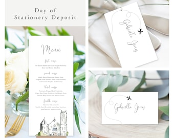 Come Fly with Us Destination Wedding (Style 13960) - Day of Stationery Deposit Add On