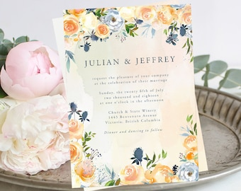 Printable Wedding Stationery - Thistle & Bloom (Style 13796)