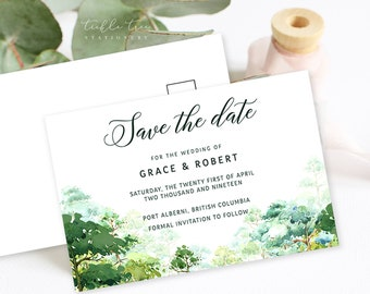 Save the Date Postcards - Forest Dreams (Style 13777)