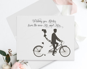 Wedding Thank You Cards - Rags to Riches/Bride & Groom (Style 13989)