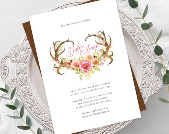 Wedding Invitations - Deer Horn Lake (Style 13636)