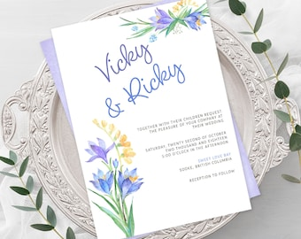 Wedding  Invitations - Iris Bloom (Style 13506)