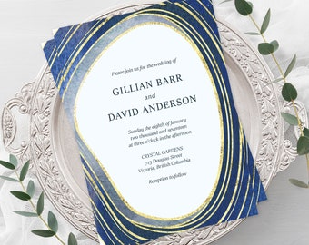 Wedding Invitations - Geode Agate (Style 13726)