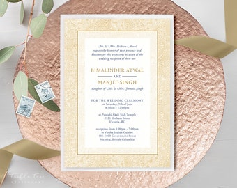 Wedding Invitations - Gold Tapestry (Style 13791)