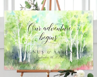 Our Adventure Begins/Design & Printing or Printable File - Watercolour Landscape (13938-3)