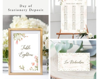 Love is in Bloom (Style 13978) - Day of Stationery Deposit Add On