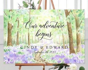 Our Adventure Begins/Design & Printing or Printable File - Watercolour Landscape (13938-1)