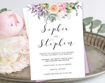 Printable Wedding Stationery - Farmer's Garden (Style 13759)