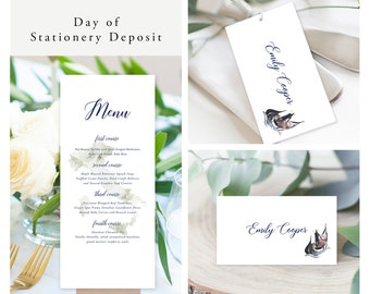 Come Fly with Us Destination Wedding (Style 13959) - Day of Stationery Deposit Add On