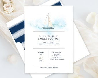 Printable Wedding Stationery - Marina Bay (Style 13795)