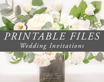 Printable File - Wedding Invitations & Suites