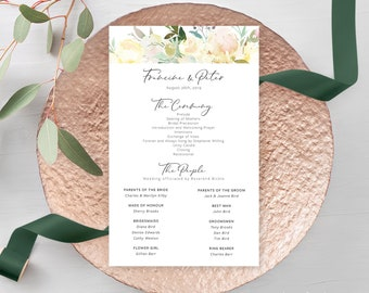 Wedding Programs - Sweet Vanilla (Style 13889)