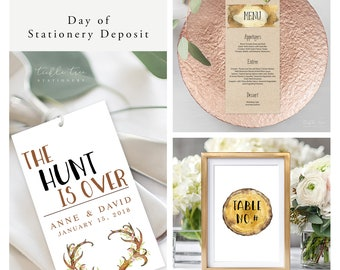 The Hunt is Over (Style 13569) - Day of Stationery Deposit Add On