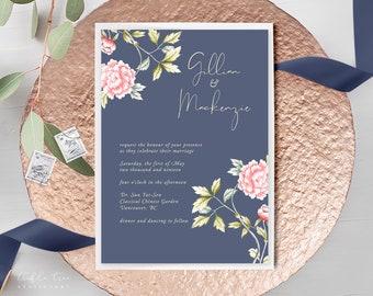 Wedding Invitations - Chinoiserie Motif (Style 13860)