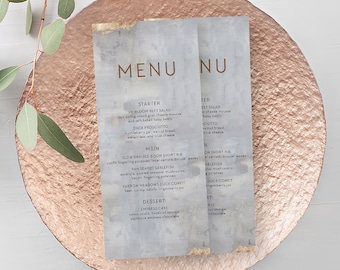 Day of Details - Menus/Design & Printing - Modern/Copper and Grey (Style 13834)