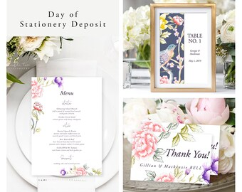 Chinoiserie Motif (Style 13860) - Day of Stationery Deposit Add On