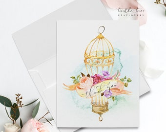 Thank You Cards - Romantic Bird Cage (Style 13954-2)