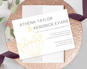 Wedding Invitations - Love Geometrical (Style 13973)