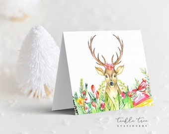 Holiday Note Card - Happy Holidays Deer (HC06)