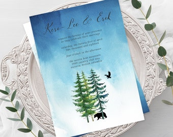 Wedding Invitations - Makwa River/Bear Spirit (Style 13518)