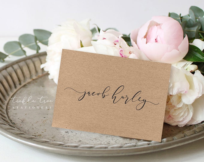 Guest Place Cards - Rustic