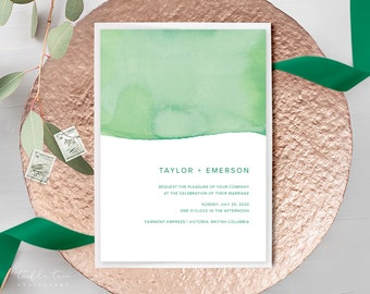 Wedding Invitations - Rainforest Paint Dip (Style 13968)
