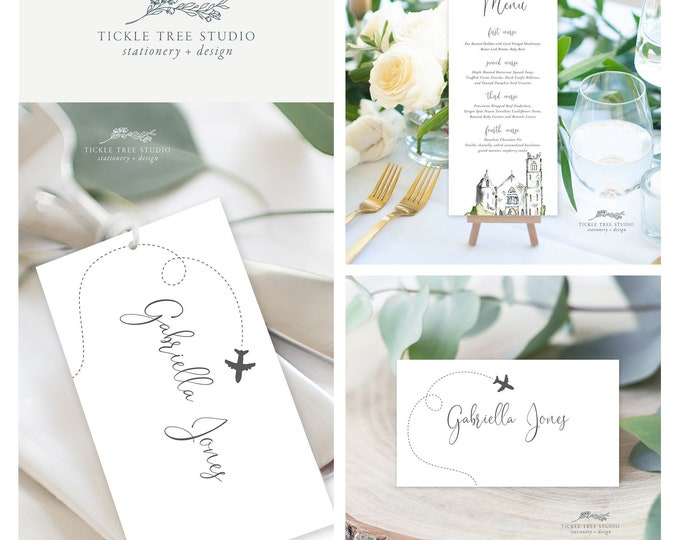 Come Fly with Us Destination Wedding (Style 13960) - Day of Stationery Deposit
