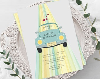 Wedding Invitations - Driven by Love (Style 13633)