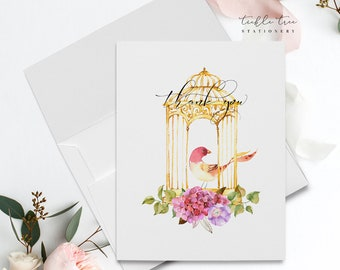 Thank You Cards - Romantic Bird Cage (Style 13954)
