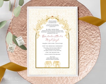 Wedding Invitations - Indian Theme (Style 13792)
