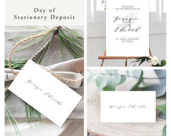Modern Simplicity (13957) - Day of Stationery Deposit Add On