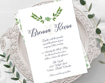 Wedding  Invitations - Urban Garden (Style 13657)