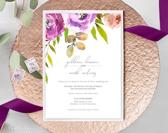 Wedding Invitations - Peony Love (Style 13764)