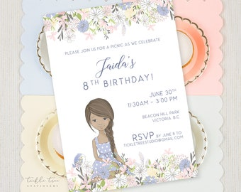 Birthday Party Invitations - Lilac Garden (Style 13944)