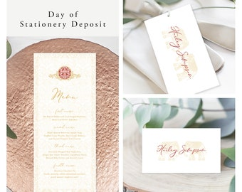 Temple Door (Style 13972) - Day of Stationery Deposit Add On