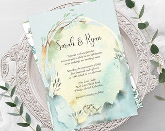 Wedding Invitations - Nature's Dreamers (Style 13821)
