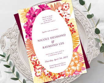 Wedding  Invitations - Tropical Destination (Style 13544)