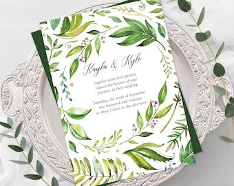 Wedding Invitations - Breezy Leaf (Style 13701)
