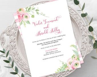 Wedding  Invitations - Ranunculus Days (Style 13786)