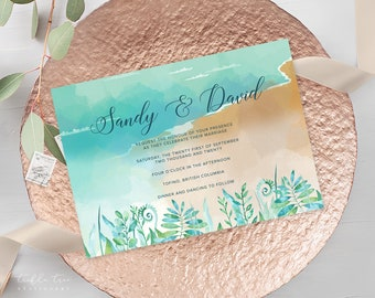 Wedding Invitations - Sandy Shores (Style 13596)