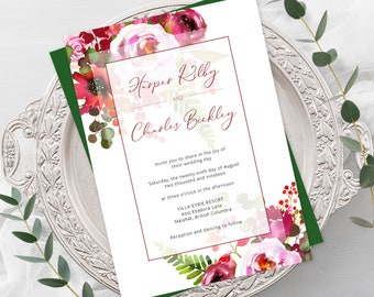Wedding  Invitations - Blushing Pinks (Style 13887)