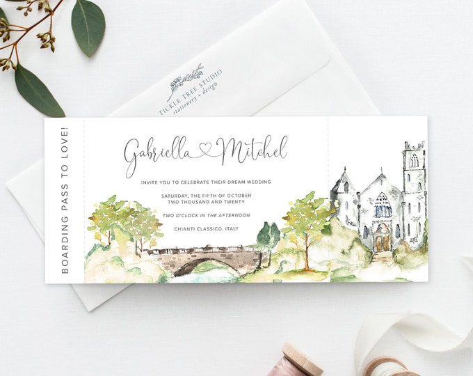 Castle Romance (Style 13960) - Ticket Invitations