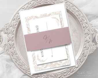 Wedding Invitations - Monogram Crest (Style 13970)