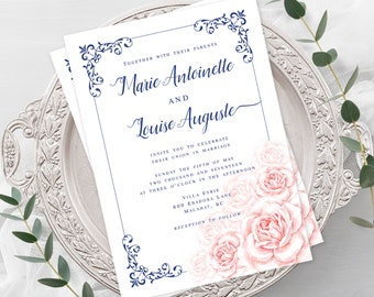 Wedding  Invitations - Marie Antoinette, Let Them Eat Cake (Style 13770)