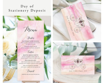 Once Upon A Time (Style 13671) - Day of Stationery Deposit Add On