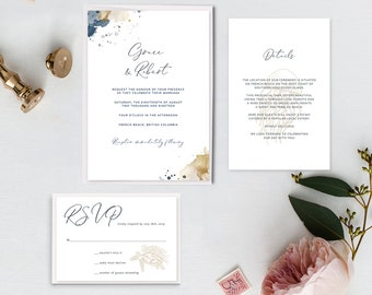 Printable Wedding Invitations - Sea Breeze (Style 13901)